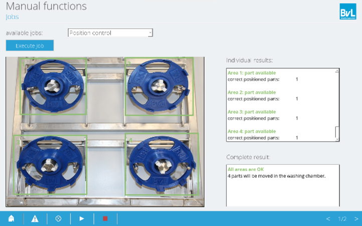Efficient cleaning with perfect component positioning