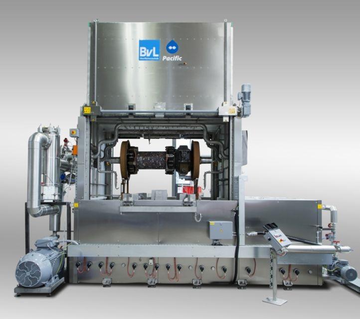 BvL-Reinigungsanlage PacificTA zur Reinigung von Radsätzen