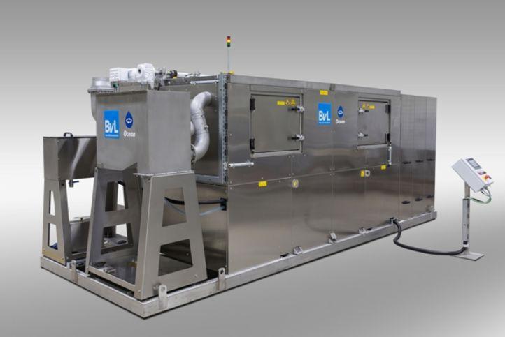 BvL-Reinigungsanlage OceanRW zur Reinigung von neu produzierten Bahnachsen