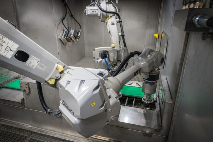 Geyser-Entgratung mit Roboterführung