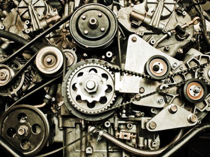 Verschiedene Bauteile für den Maschinenbau