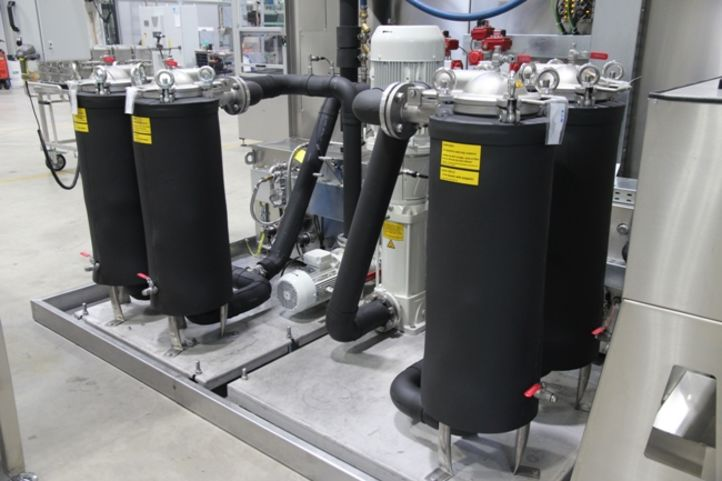 Isolierung von Filtern bei einer BvL-Reinigungsanlage
