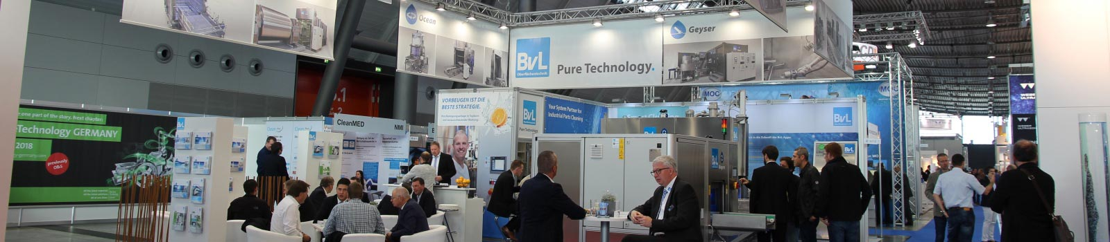 BvL-Messestand Parts2Clean 2017 in Stuttgart