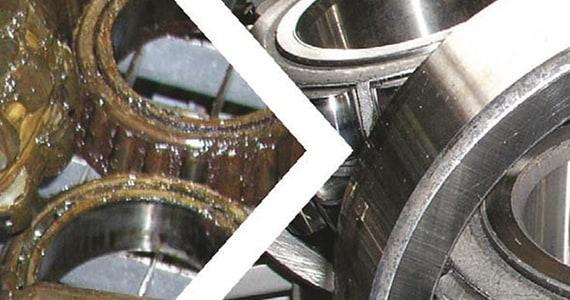Saubere und fettfreie Radlager und Lagergehäuse