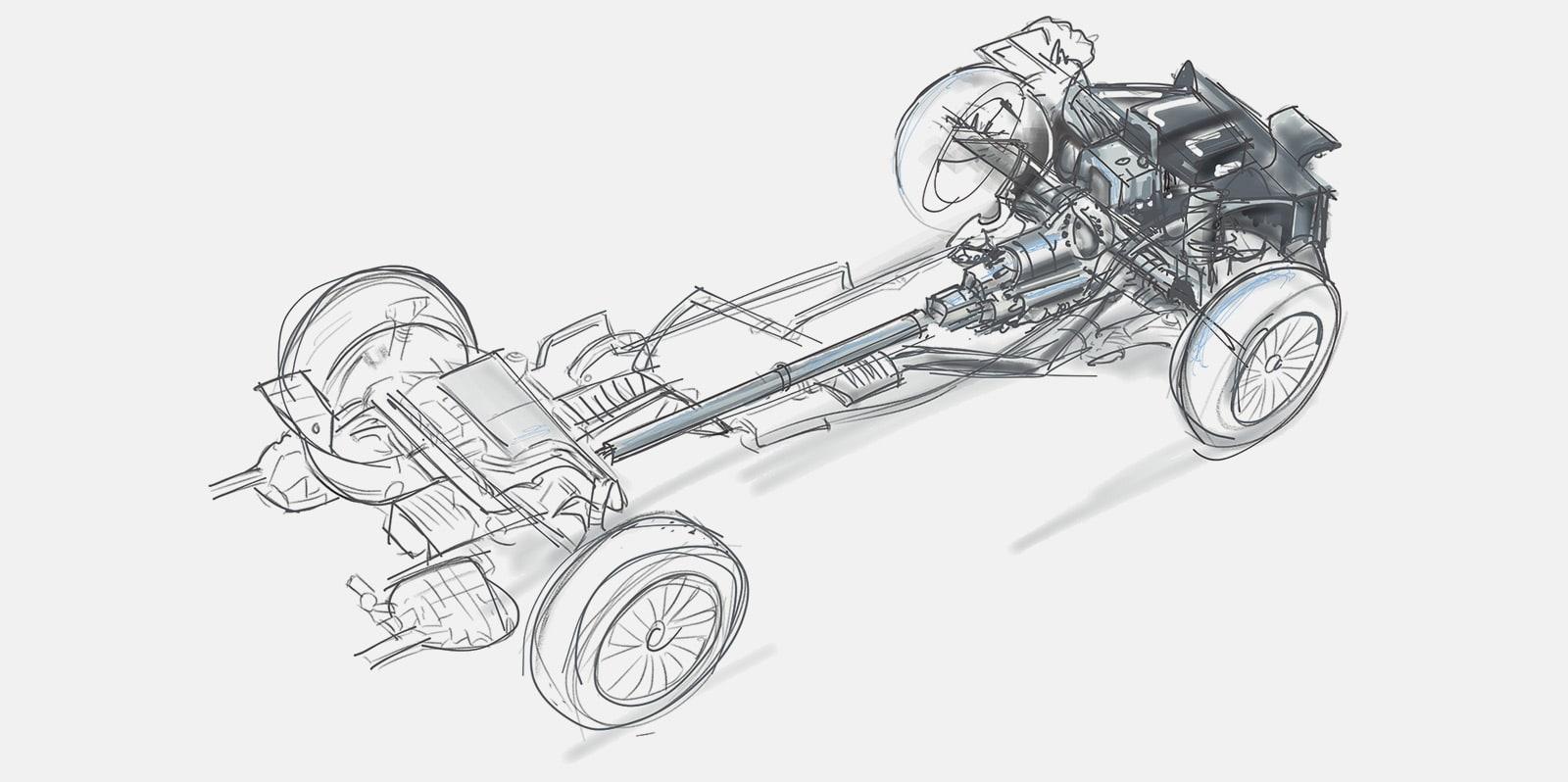 Zeichnung Auto