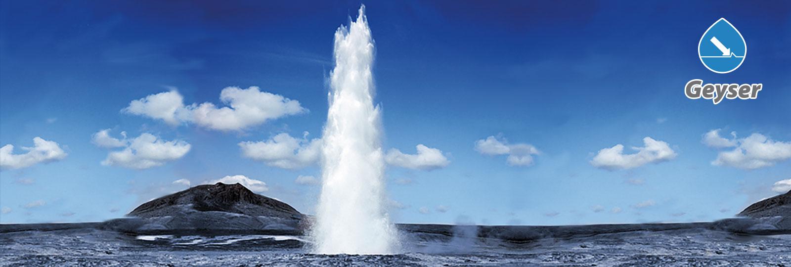 Die Reinigungsanlage Geyser der BvL Oberflächentechnik bewegt, genau wie ein Geysir, Wassermassen mit hohem Druck.