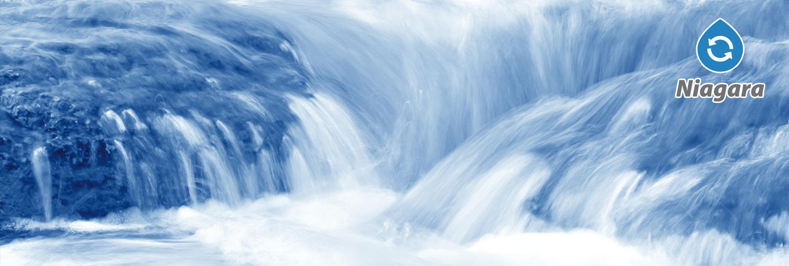 Kraftvoll wie die Wasserfälle sind auch unsere Korbwaschanlagen Niagara
