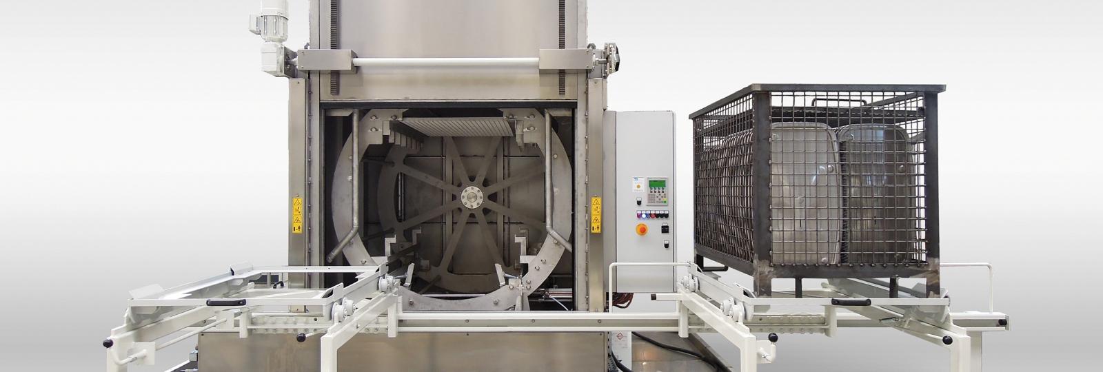 Die Reinigungsanlage NiagaraRH der BvL Oberflächentechnik reinigt mühelos hohe Bauteilstückzahlen mit leichten bis mittelstarken Verunreinigungen