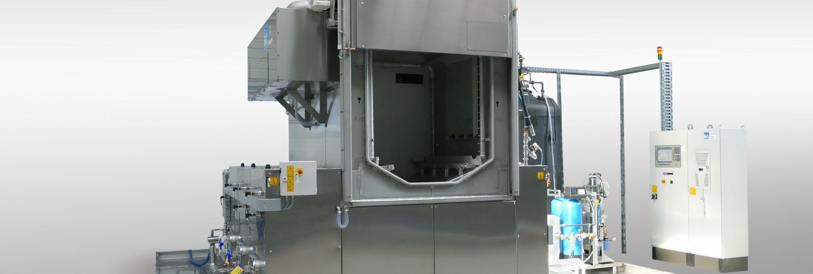 Die BvL Reinigungsanlage Niagara VE ist speziell für den Einsatz in Härtereien, mit hohen Stückzahlen in Körben und hohen Bauteilgewichten, konzipiert,