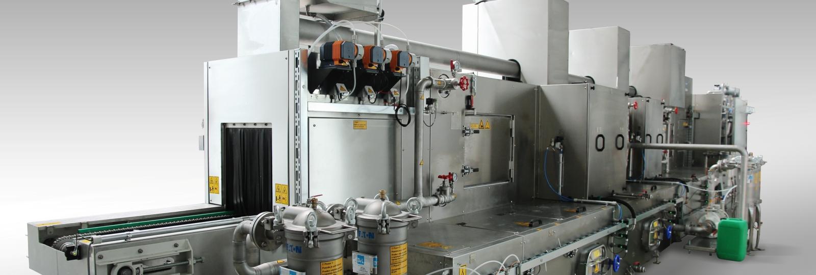 Die BvL Reinigungsanlage Yukon ist eine Durchlaufanlage mit kontinuierlichem Materialfluss, für hohe Durchsätze