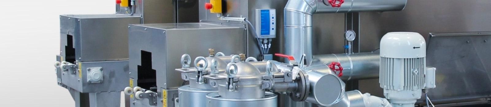 Filter mit hochwertiger Edelstahlisolierung an einer BvL-Reinigungsanlage