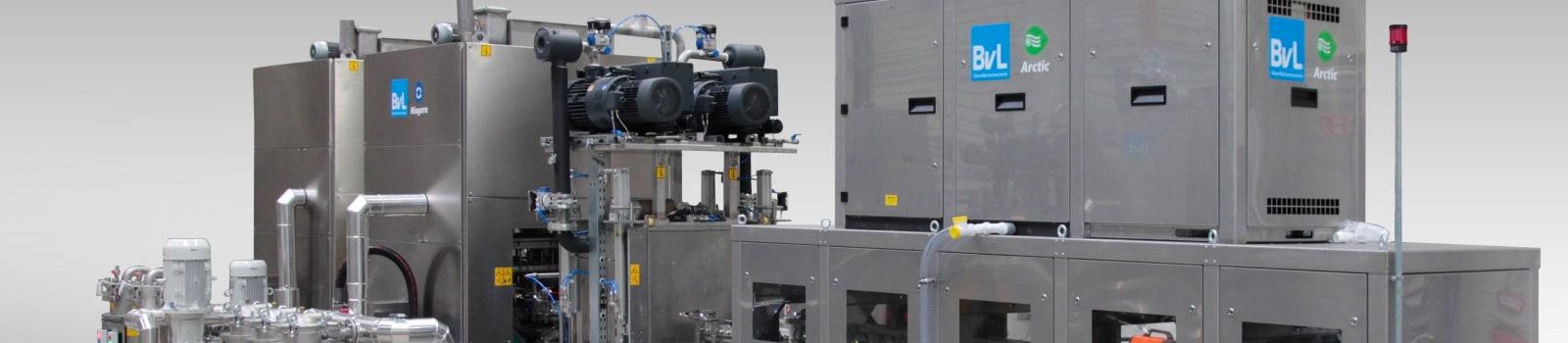 Den Arctic Kühltunnel gibt es bei den BvL-Reinigungsanlagen mit Luft- oder Wasser-Luftkühlung zum Erreichen der erforderlichen Bauteiltemperatur