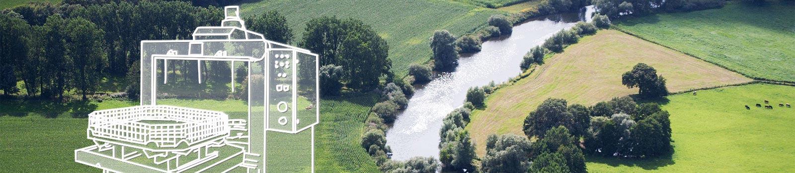 Flussgabelung der Ems im Emsland, der historischen Gründungsregion von BvL